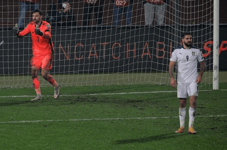 golman škotske brani penal mitroviću