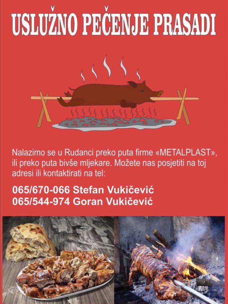 Wučko - Uslužno pečenje prasadi i jagnjadi Rudanka Doboj